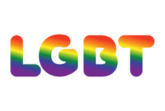 LGBT sign of rainbow letters. Letitiging for gays and lesbians Royalty Free Stock Photo