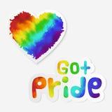 LGBT stickers royalty free illustration