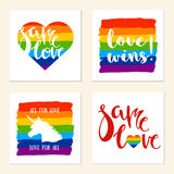 LGBT support posters. Stock Images