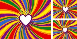 LGBT, tęczy dumy flaga Bezpłatnej miłości pojęcie również zwrócić corel ilustracji wektora royalty ilustracja