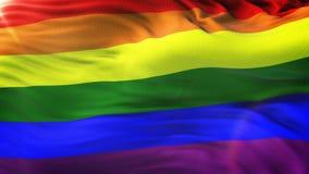LGBT tęczy falowania flaga tło z racą zdjęcie wideo