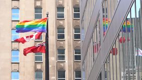 LGBT tęczy flaga w Toronto