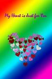 LGBT-Valentinsgruß-Tageskarten-Valentinsgruß-Tagesparteieinladungs-Fliegerhintergrund Stockbild