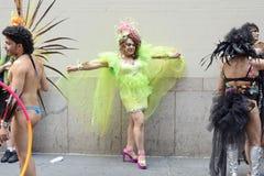 LGBT Vrolijk Pride March in de Stad van New York Stock Foto's