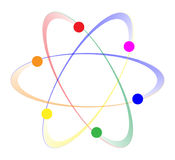 LGBT Whirling Atoms Stock Photography