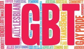 LGBT Word Cloud. On a white background Stock Image