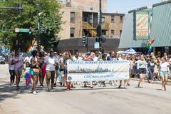 LGBTQ dumy parada 2018 zdjęcie stock