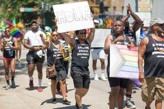 LGBTQ dumy parada 2018 zdjęcie royalty free