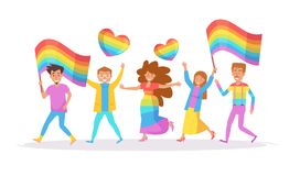 LGBTQ parade. Vector. Stock Image
