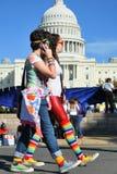 LGBTQ protestujący przy kapitałem obraz stock