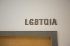LGBTQIA Office at School Stock Photography