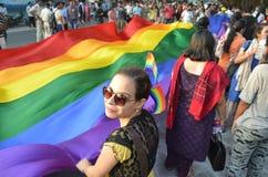 LGBTQlesbian bög, bisexuella personer, transgenders Royaltyfria Foton