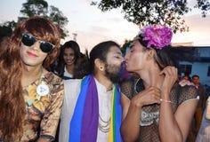 LGBTQlesbian bög, bisexuella personer, transgenders Arkivfoton