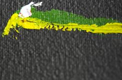 ?lgem?lde Auszug Beschaffenheit, Hintergrund Schwarz, gelb, grün, weiß Werden Raum fertig Makro Nahaufnahme vektor abbildung
