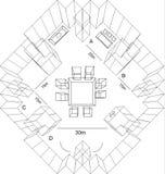 lägenhetkonstruktionsprogram Arkivbilder