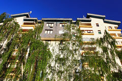 lägenhetskomplex Royaltyfri Fotografi