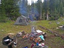 lägervildmark Fotografering för Bildbyråer