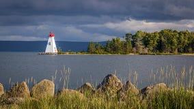 Lghthouse i Nova Scotia royaltyfria foton