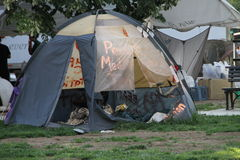 Lägret av upptaganderörelsen i Washington Arkivbild