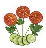 Légumes d'isolement - fleurs Image stock