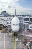LH440 to Houston is ready for boarding Royalty Free Stock Photo