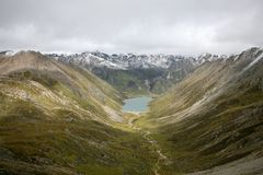 Lhamo Latso lake stock images