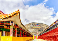 Lharong kloster av Sertar Royaltyfria Foton
