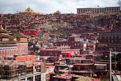 Lharong kloster av Sertar Royaltyfri Foto