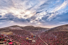 Lharong Monastery of Sertar Stock Photos