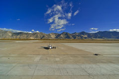 Lhasa airport Tibet Stock Photo