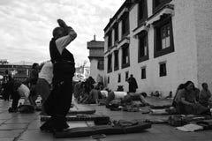 Lhasa-Anbetung Stockfotografie