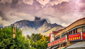 Lhasa the capital of Tibet Stock Photo