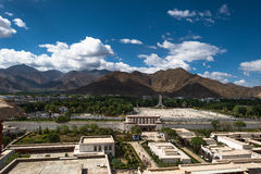 Lhasa City au Thibet Photographie stock