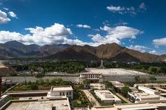 Lhasa City i Tibet Arkivbild