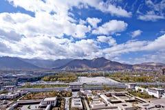 Lhasa city, Tibet. Lhasa city skyline view from Potala palace, tibet Stock Photography