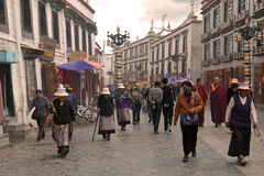 Lhasa eight Street Stock Images