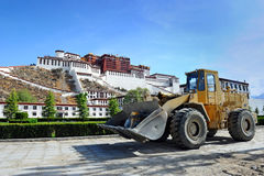 Lhasa en construction Photo libre de droits