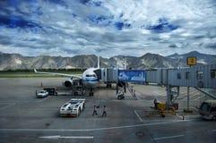 Lhasa lotnisko obraz stock