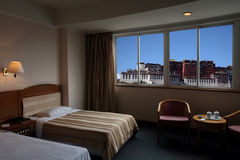 lhasa okno Zdjęcie Royalty Free