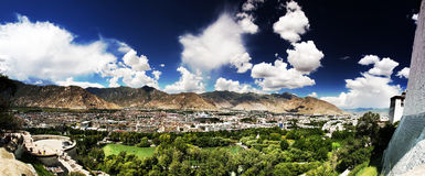 Lhasa. The overall view of Lhasa royalty free stock photo
