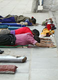 lhasa pielgrzyma tybetańskiej Fotografia Royalty Free