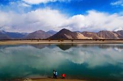 Lhasa River in Tibet Stockfoto