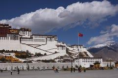 lhasa slottpotala tibet Royaltyfria Bilder
