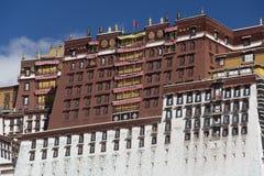 lhasa slottpotala tibet Arkivfoto
