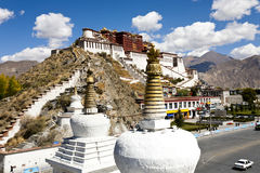 lhasa slottpotala tibet Royaltyfri Fotografi