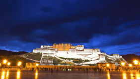 lhasa slottpotala tibet Royaltyfri Bild