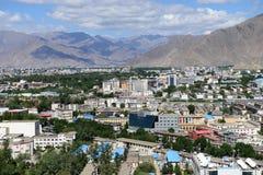 Lhasa stad Fotografering för Bildbyråer