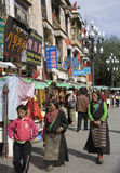 Lhasa in Tibet - The Barkhor Stock Photos