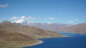 Lhasa, Tibet, China, Nangartse County, Shannan Prefecture,  stop at the Yamdrok lake, panoramic view of the lake and