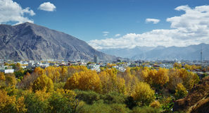 Lhasa tibet chinaa. Lhasa is a main city in Tibet provnice in China Royalty Free Stock Photos